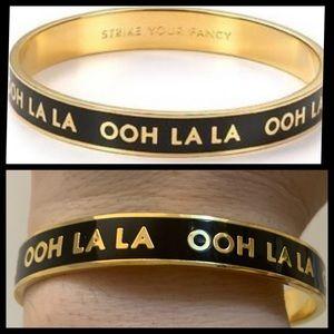 Kate Spade ♠️ OOh La La La Black Gold Bracelet